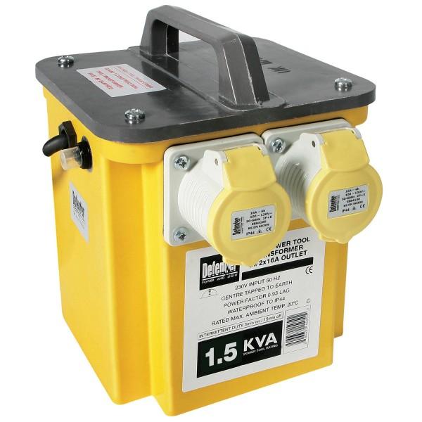 1.5kVA Portable Transformer for hire