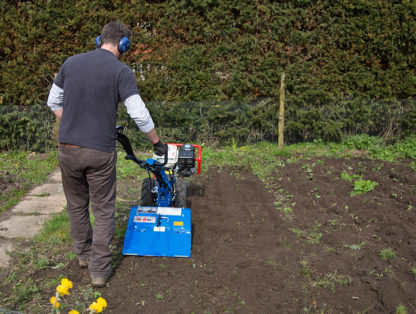 8hp Rotavator In Use 1