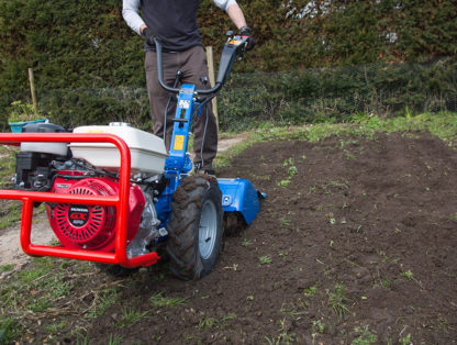 8hp Rotavator In Use 5