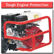 8hp Rotavator Tough Engine Protection