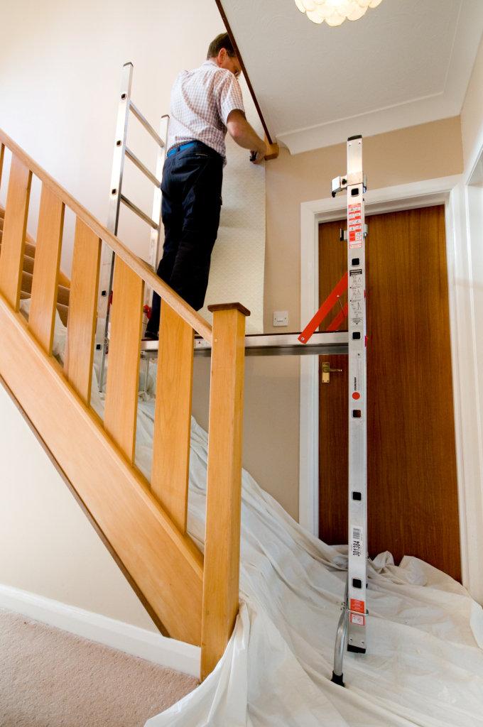 Pro deck platform ladder steps wellers hire for Balcony platform