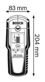 Metal Detector (Handheld) Dimensions