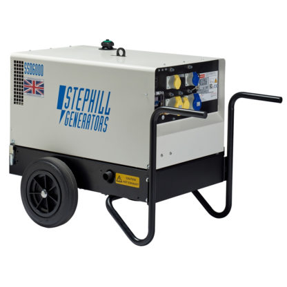 6.0kVA/4.8kw Silenced Diesel Generator for hire