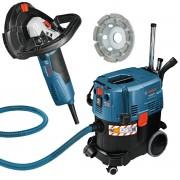 Concrete Grinder & Dust Extraction Vacuum