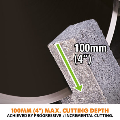 Electric Disc Cutter - 300mm - Cutting Depth