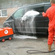 Electric & Paraffin Hot Water Pressure Washer – In Action 1