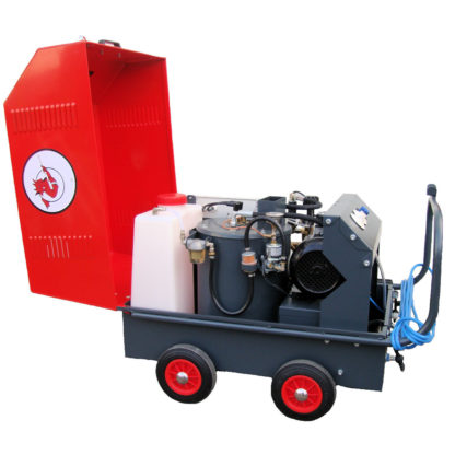 Electric & Paraffin Hot Water Pressure Washer Opened Lid