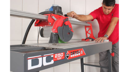 Electric Tile Cutter (Overhead Rail DC-250 1200) In Action - 1