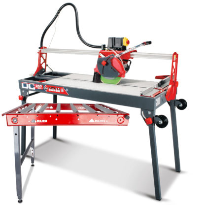 Electric Tile Cutter (Overhead Rail DC-250 1200) and Roller Extension Table
