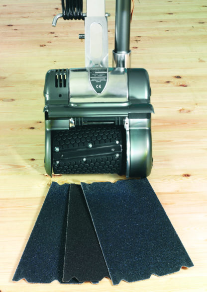 Floor Sander with Abrasive Paper