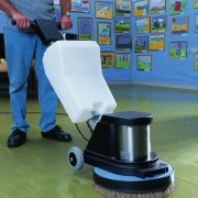 Floor Scrubber / Polisher In Action – 1