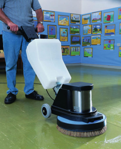 Floor Scrubber / Polisher In Action - 1
