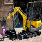 Hydraulic Breaker (PRB008) fitted to 803