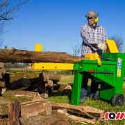 Log Splitter Electric 8 Tonne Hydraulic – In Action 1