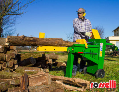 Log Splitter Electric 8 Tonne Hydraulic - 2 Levered Control System - In Action 1