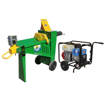 Log Splitter Electric 8 Tonne Hydraulic and Generator for hire