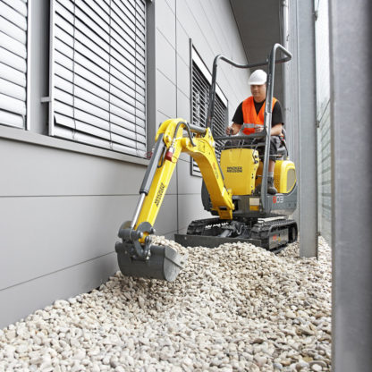 Mini Excavator Digger 1.0 Tonne - In Action 1