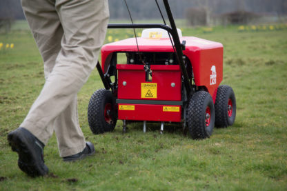 Petrol Lawn Aerator / Plugger / Spiker - In Action 2