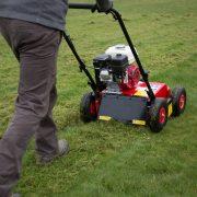 Petrol Lawn Scarifier – In Action-1